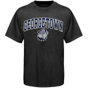 Men's New Agenda Charcoal Georgetown Hoyas Arch Over Logo T-Shirt