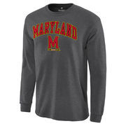 Men's Charcoal Maryland Terrapins Campus Long Sleeve T-Shirt