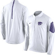 Men's Nike White Kansas State Wildcats Coaches Sideline Lockdown Half-Zip Wind Jacket