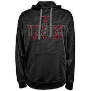 Men's Champion Black Texas Tech Red Raiders Chrome Polyester Pullover Hoodie