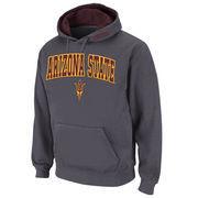 Men's Stadium Athletic Charcoal Arizona State Sun Devils Arch & Logo Pullover Hoodie