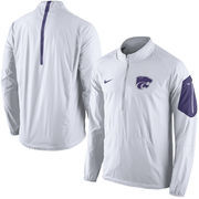 Men's Nike White Kansas State Wildcats 2015 Football Coaches Sideline Half-Zip Wind Jacket