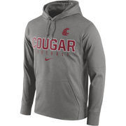 Men's Nike Heather Gray Washington State Cougars Circuit Therma-FIT Performance Hoodie