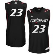adidas Cincinnati Bearcats #23 Replica Basketball Jersey - Black