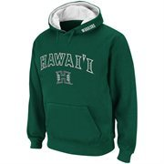 Mens Hawaii Warriors Green Classic Arch Logo Twill Hoodie