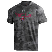 Men's Under Armour Black Temple Owls Tech Camo Performance T-Shirt