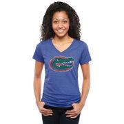 Women's Royal Florida Gators Classic Primary Tri-Blend V-Neck T-Shirt
