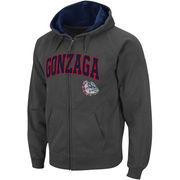 Men's Stadium Athletic Charcoal Gonzaga Bulldogs Arch & Logo Full Zip Hoodie