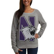 Northwestern Wildcats Women's Knobi Fleece Sweatshirt - Gray