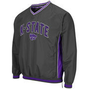 Men's Colosseum Charcoal Kansas State Wildcats Fair Catch Pullover Jacket