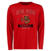 Men's Red Cornell Big Red Big & Tall Campus Icon Long Sleeve T-Shirt