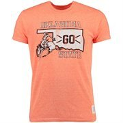 Men's Original Retro Brand Heather Orange Oklahoma State Cowboys Vintage Tri-Blend T-Shirt