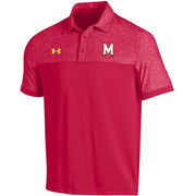 Men's Under Armour Red Maryland Terrapins 2016 Coaches Podium Performance Polo
