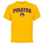 Yellow East Carolina Pirates Proud Mascot T-Shirt
