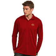 Men's Antigua Red Iowa State Cyclones Exceed Long Sleeve Polo