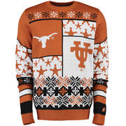 Unisex Klew Burnt Orange Texas Longhorns Thematic Ugly Sweater