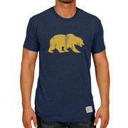 Men's Original Retro Brand Heather Navy Cal Bears Vintage Bear Tri-Blend T-Shirt
