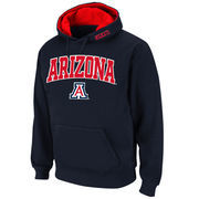 Men's Stadium Athletic Navy Arizona Wildcats Arch & Logo Pullover Hoodie