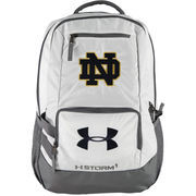 Under Armour White Notre Dame Fighting Irish Hustle II Backpack