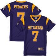 Youth Colosseum #7 Purple East Carolina Pirates Football Jersey