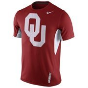 Men's Nike Crimson Oklahoma Sooners 2015 Sideline Vapor Dri-FIT Performance Top