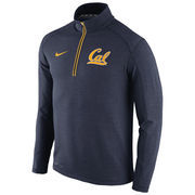 Men's Nike Navy Cal Bears 2015 Football Coaches Sideline Half-Zip Tri-Blend Performance Knit Top
