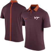 Men's Nike Maroon Virginia Tech Hokies Coaches Sideline Dri-FIT Polo