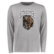 Men's Ash Montana Grizzlies Big & Tall Classic Primary Long Sleeve T-Shirt