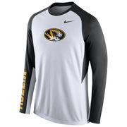 Nike White Missouri Tigers 2015-2016 Elite Basketball Pre-Game Shootaround Long Sleeve Dri-FIT Top