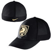 Men's Nike Black Army Black Knights Swoosh Mesh Back Performance Flex Hat