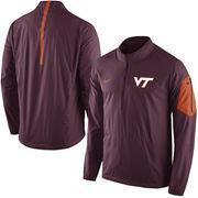 Men's Nike Maroon Virginia Tech Hokies 2015 Football Coaches Sideline Half-Zip Wind Jacket