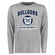 Men's Ash Butler Bulldogs Campus Icon Long Sleeve T-Shirt