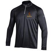 Men's Under Armour Black Wyoming Cowboys 1/4 Zip Long Sleeve Tech T-Shirt