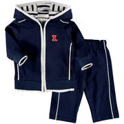 Newborn & Infant Navy Illinois Fighting Illini French Terry Pant & Jacket Sweat Set