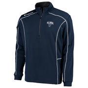 Men's Columbia Golf Navy Villanova Wildcats Shotgun Omni-Wick Quarter-Zip Pullover Jacket