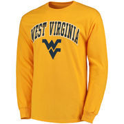 Men's Gold West Virginia Mountaineers Campus Long Sleeve T-Shirt