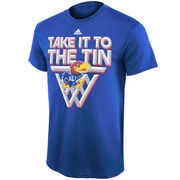 Mens Kansas Jayhawks adidas Royal Blue To The Tin T-Shirt