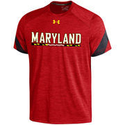 Men's Under Armour Red Maryland Terrapins 2016 Sideline Microstripe Performance T-Shirt