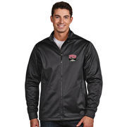 Men's Antigua Charcoal UNLV Rebels Golf Full-Zip Jacket