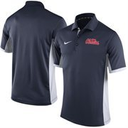 Men's Nike Navy/White Ole Miss Rebels Team Issue Performance Polo
