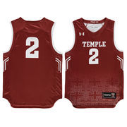 Youth Under Armour #2 Garnet Temple Owls Performance Replica Basketball Jersey