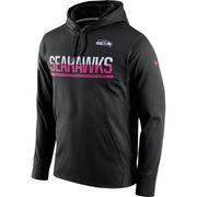 Men's Nike Black Seattle Seahawks Breast Cancer Awareness Circuit Performance Pullover Hoodie