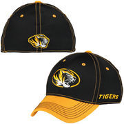Men's Top of the World Black/Gold Missouri Tigers Krossover 2-Tone Memory 1Fit Flex Hat