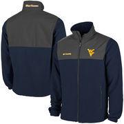 Men's West Virginia Mountaineers Columbia Navy Blue Fast Tech Overlay Fleece