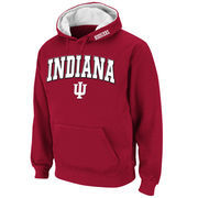 Men's Stadium Athletic Crimson Indiana Hoosiers Arch & Logo Pullover Hoodie