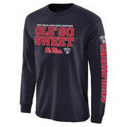 Men's Navy Ole Miss Rebels 2016 Sugar Bowl Champions Flavor Long Sleeve T-Shirt