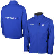 Mens Kentucky Wildcats Columbia Royal Blue Ascender Bonded Softshell Jacket