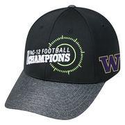 Men's Top of the World Black Washington Huskies 2016 Pac-12 Football Champions Locker Room Adjustable Hat