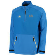 Men's adidas Blue UCLA Bruins Team Woven 2.0 climalite Quarter-Zip Pullover Jacket