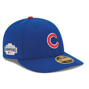 Men's New Era Royal Chicago Cubs 2016 World Series Champions Side Patch Low Pro 59FIFTY Fitted Hat